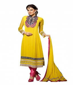 Swet Yellow Color Georgette Designer suits