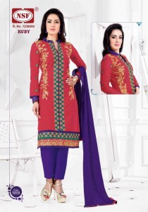 NSF Ruby Vol-3 Cambric Cotton Suits (09 pc catalog)
